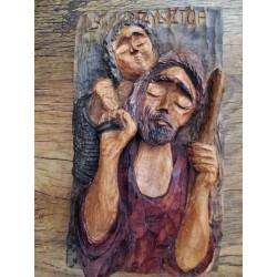 Płaskorzeźba św. Krzysztofa z Dzieciątkiem Jezus
